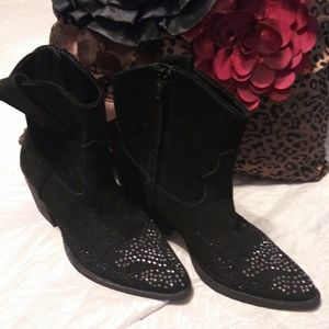 Reba Bling Ankle Boots